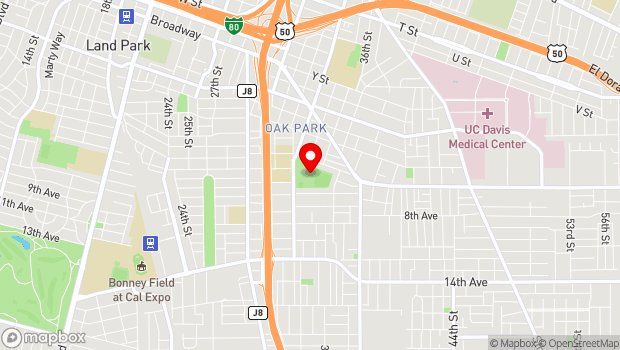Google Map of 3500 5th Avenue, Sacramento, CA 95817