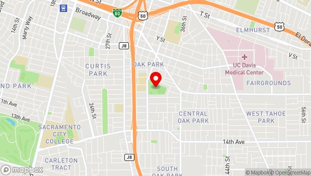 Google Map of 3500 5th Avenue, Sacramento, CA 95817