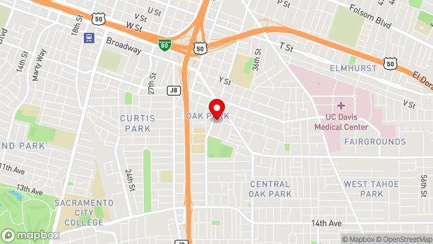 Google Map of 3414 4th Avenue, Sacramento, CA 95817