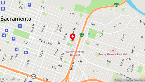 Google Map of 2718 J St., Sacramento, CA 95816