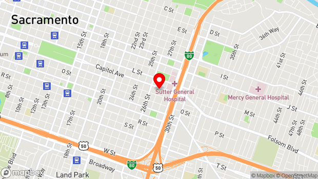 Google Map of 2700 Capitol Ave., Sacramento, CA 95816