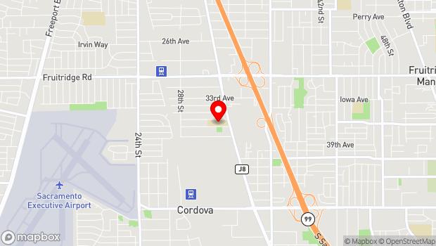 Google Map of 3301 37th Ave, Sacramento, CA 95824