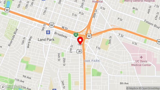 Google Map of 2565 Franklin Blvd, Sacramento, CA 95818