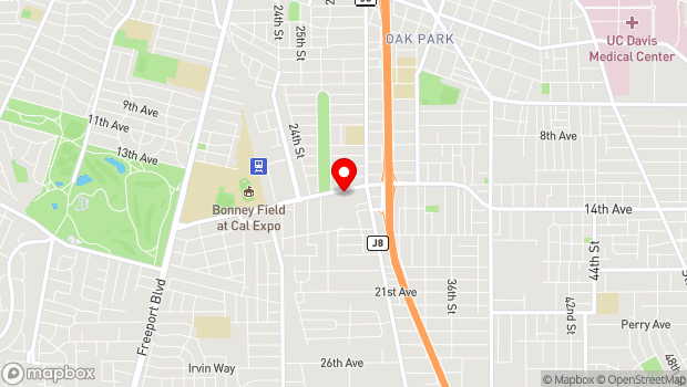 Google Map of 2760 Sutterville Road, Sacramento, CA 95820
