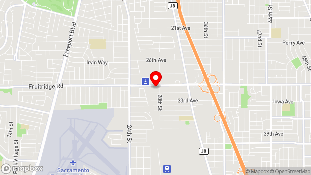 Google Map of 2770 Fruitridge Rd., Sacramento, CA 95820