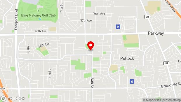 Google Map of 7340 24th Street Bypass, Sacramento, CA 95822