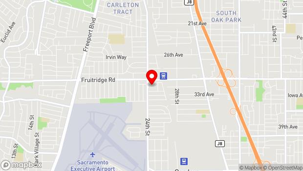 Google Map of 5625 24th St, Sacramento, CA 95822