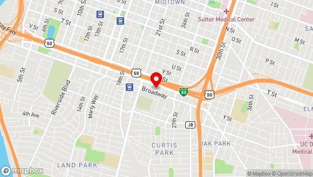 Google Map of 2415 23rd St., Sacramento, CA 95818