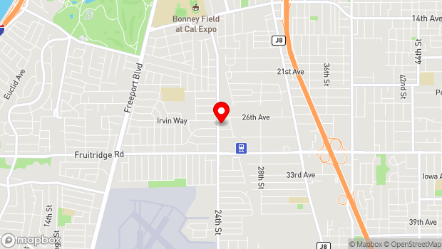 Google Map of 5191 24th St., Sacramento, CA 95822