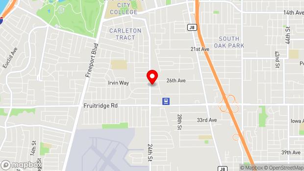 Google Map of 5191 24th St, Sacramento, CA 95822