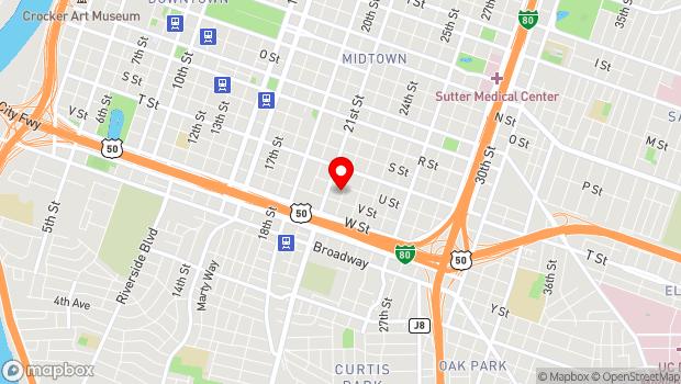 Google Map of 2112 22nd Street, Sacramento, CA 95818