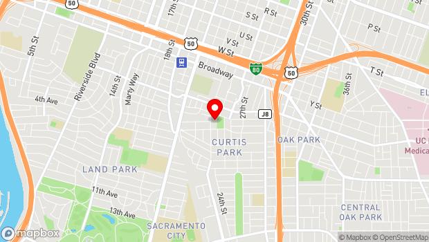 Google Map of 2791 24th Street, Sacramento, CA 95818