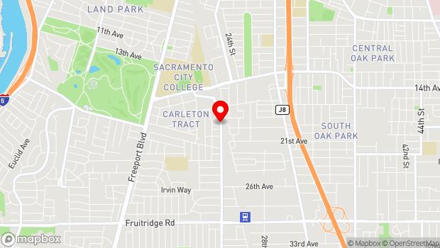 Google Map of 4370 24th Street, Sacramento, CA 95822
