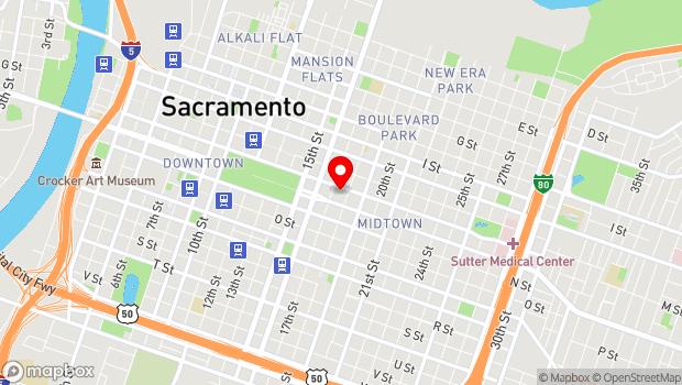 Google Map of 1716 L Street , Sacramento, CA 95811