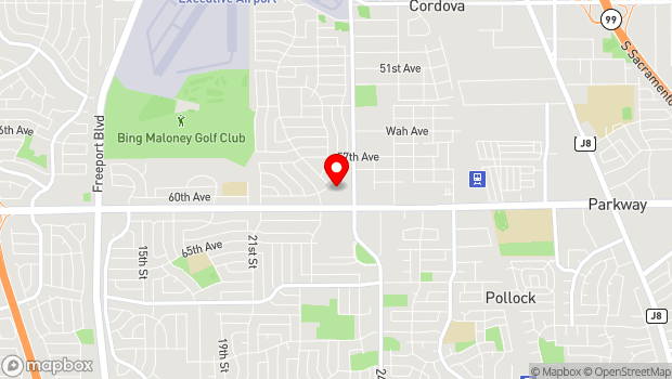 Google Map of 2251 Florin Road, Sacramento, CA 95822