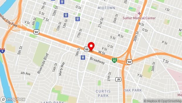 Google Map of 2350 21st Street, Sacramento, CA 95818