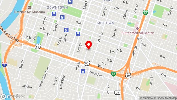 Google Map of 1920 T Street, Sacramento, CA 95811