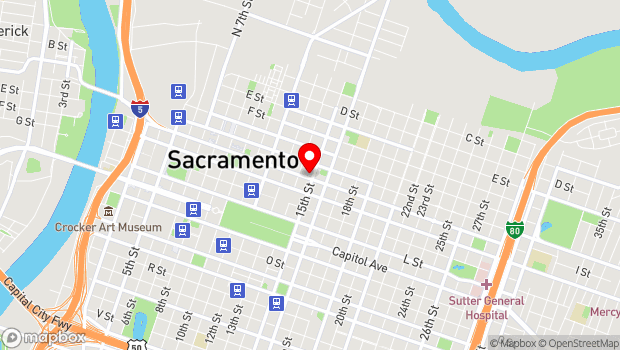 Google Map of 1431 I St., Sacramento, CA 95814
