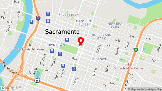 Google Map of 1500 K St., Sacramento, CA 95814