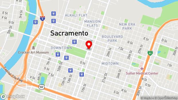 Google Map of 1121 15th St., Sacramento, CA 95814