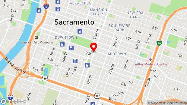 Google Map of 1414 16th Street, Sacramento, CA 95814