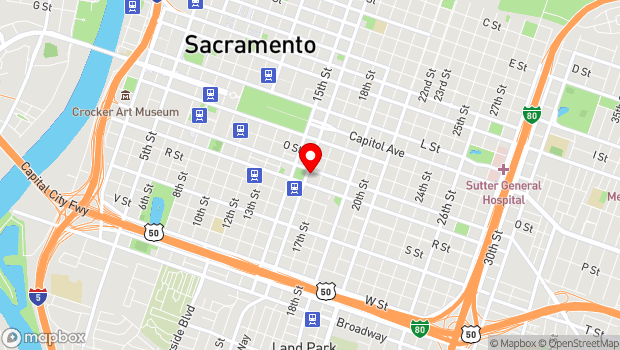 Google Map of 1609 16th St., Sacramento, CA 95814