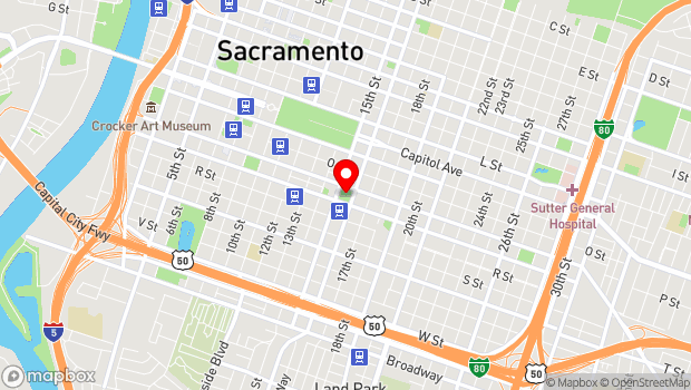 Google Map of 1515 Q Street, Sacramento, CA 95814