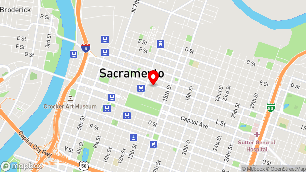 Google Map of 1230 J Street , Sacramento, CA 95814
