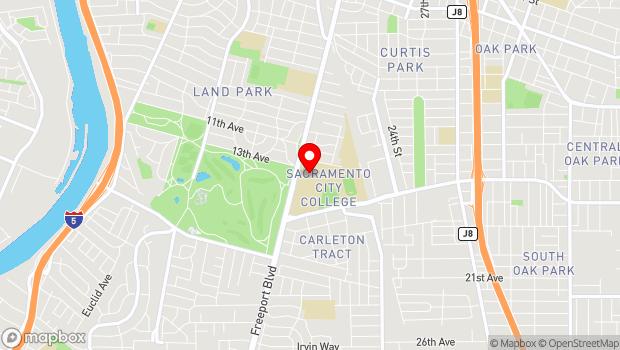 Google Map of 3835 Freeport Blvd., Sacramento, CA 95822