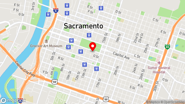 Google Map of 1300 N Street, Sacramento, CA 95814