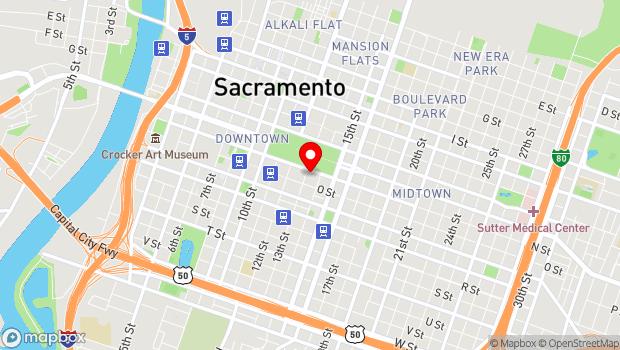 Google Map of 1300 N Street, Sacramento, CA 95814