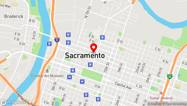 Google Map of 815 11th Street, Sacramento, CA 95814
