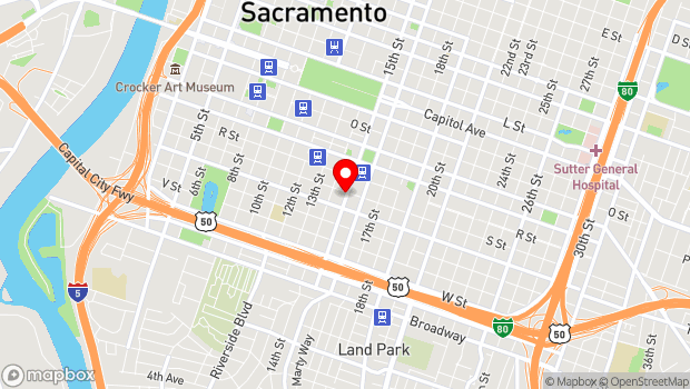 Google Map of 1430 S St., Sacramento, CA 95811