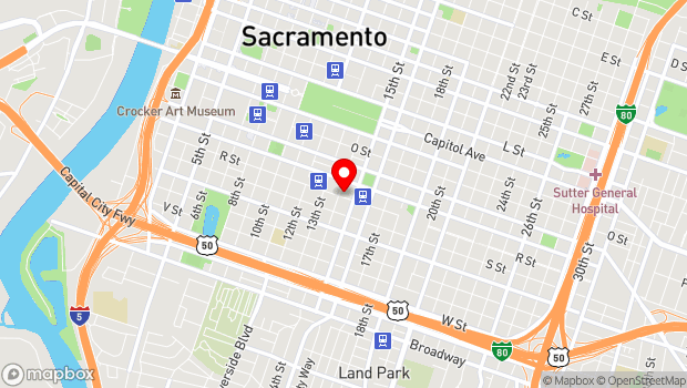 Google Map of 1409 R Street, Sacramento, CA 95811