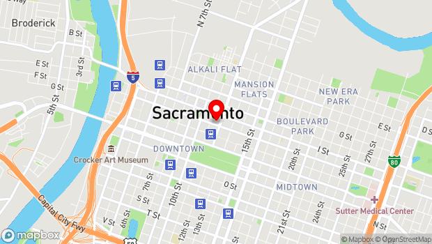 Google Map of 1117 J St., Sacramento, CA 95814