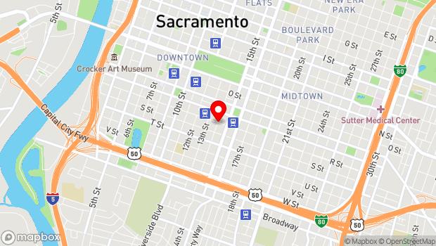 Google Map of 1400 R Street, Sacramento, CA 95811
