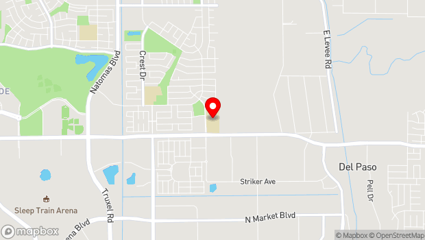 Google Map of 4600 Blackrock Drive, Sacramento, CA 95835