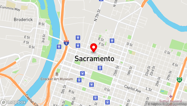 Google Map of Sacramento, CA 95814