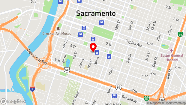 Google Map of 1730 12th St., Sacramento, CA 95811