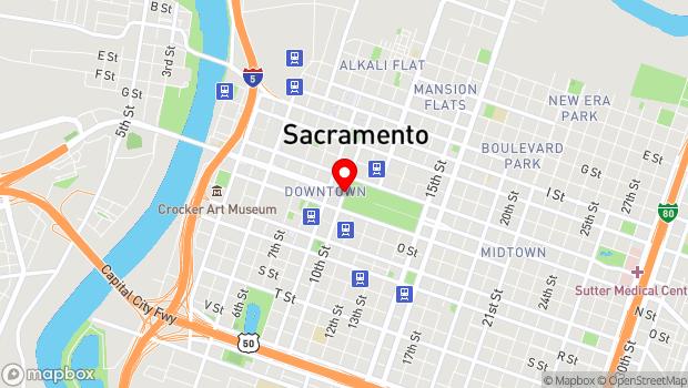 Google Map of 10th Street and Capitol Avenue, Sacramento, CA 95811