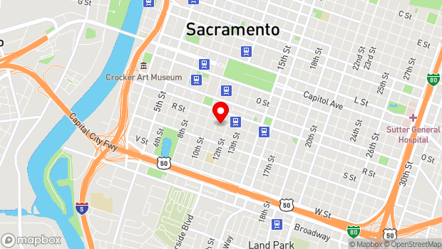 Google Map of 1108 R St, Sacramento, CA 95811