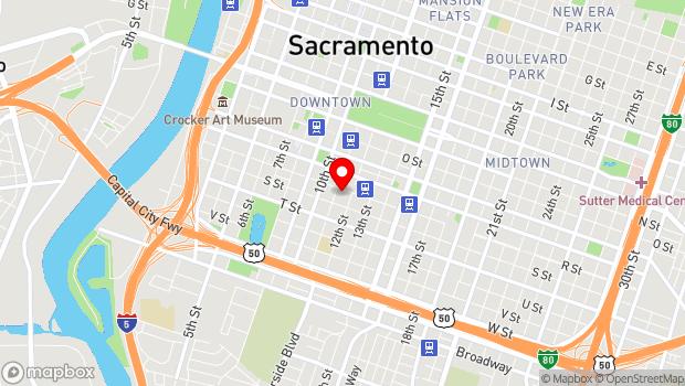 Google Map of 1108 R St, Sacramento, CA 95811
