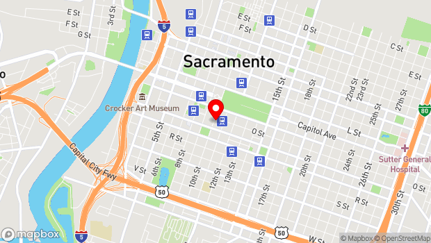 Google Map of 1020 O Street, Sacramento, CA 95814
