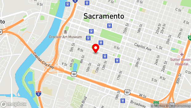 Google Map of 1021 R Street, Sacramento, CA 95811
