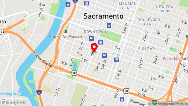 Google Map of 1001 R St., Sacramento, CA 95814