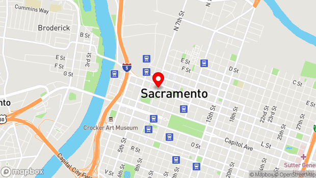 Google Map of 917 7th St., Sacramento, CA 95814