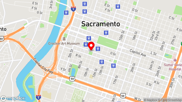 Google Map of 940 P Street, Sacramento, CA 95814