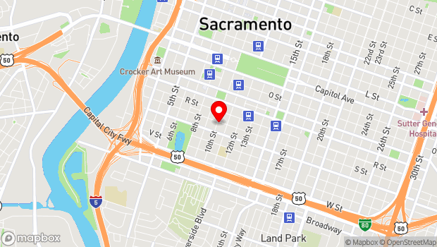 Google Map of 1901 10th Street, Sacramento, CA 95814