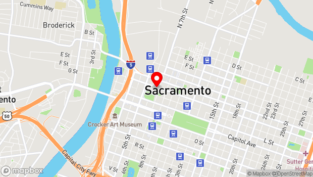 Google Map of 660 J St., Sacramento, CA 95814