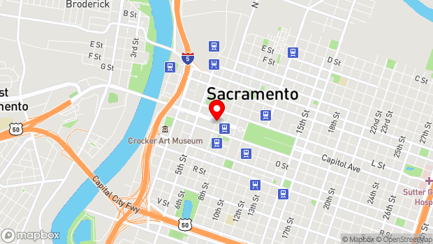 Google Map of 1300 7th Street, Sacramento, CA 95814